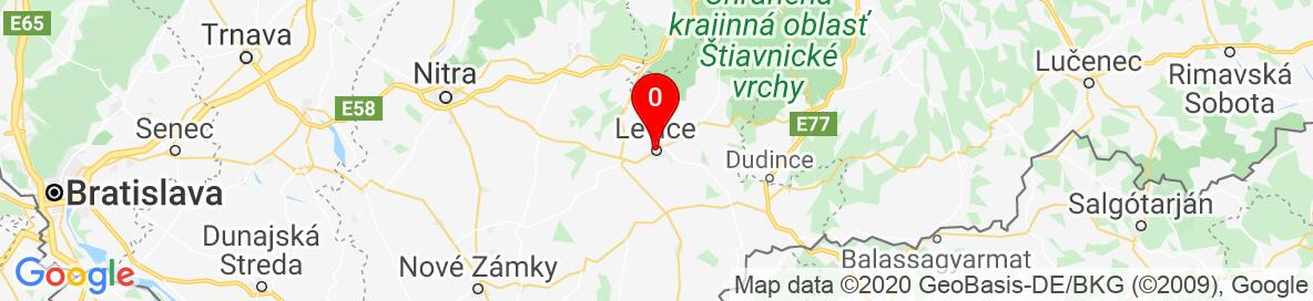 Map of Levice, Nitriansky kraj, Slovensko. More detailed map is available only for registered users. Please register or log in.