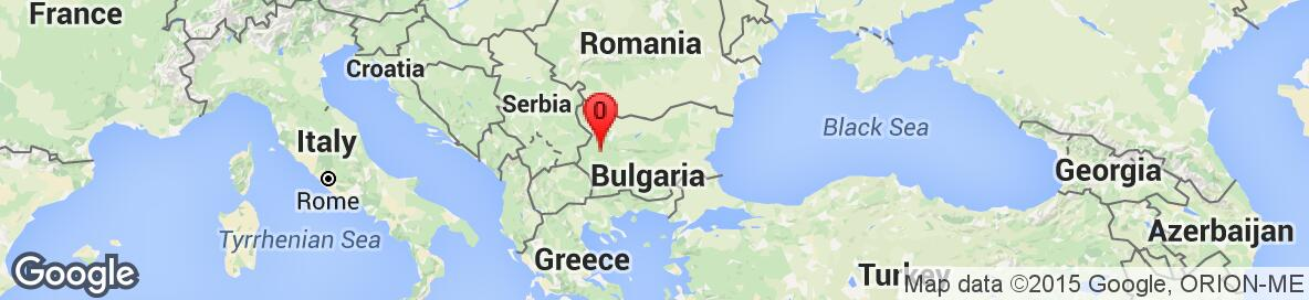 Map of Bulgaria. No detailed map is available.