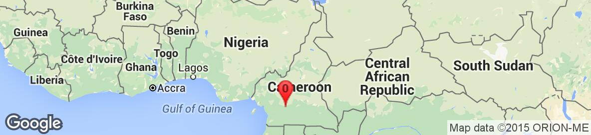 Map of Cameroon. Detailed map cannot be displayed.