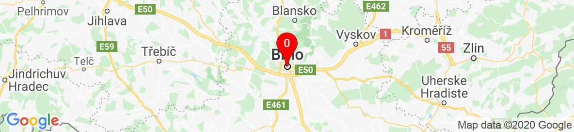 Map of Brno, Brno-City District, South Moravian Region, Czechia. More detailed map is available only for registered users. Please register or log in.