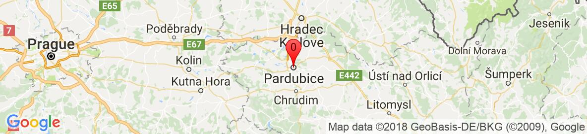 Map of Pardubice. More detailed map is available only for registered users. Please register or log in.