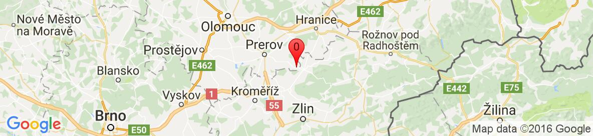 Map of Křtomil, Přerov District, Olomouc Region, Czech Republic. More detailed map is available only for registered users. Please register or log in.