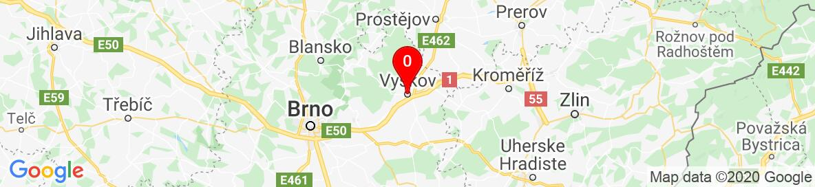 Map of Vyskov, Vyškov District, South Moravian Region, Czechia. More detailed map is available only for registered users. Please register or log in.