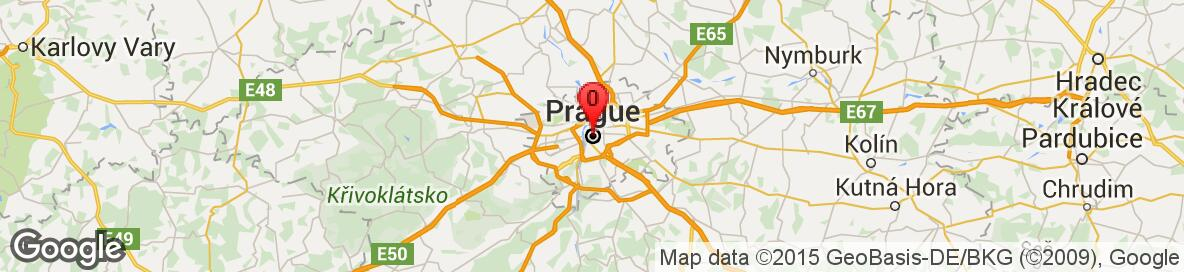 Map of Prague, Hlavní město Praha, Czech Republic. More detailed map is available only for registered users. Please register or log in.