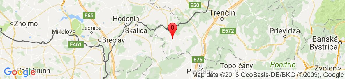 Map of Myjava, Myjava District, Trenčín Region, Slovakia. More detailed map is available only for registered users. Please register or log in.