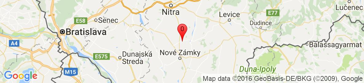 Map of Šurany, Nové Zámky District, Nitra Region, Slovakia. More detailed map is available only for registered users. Please, register or log in.