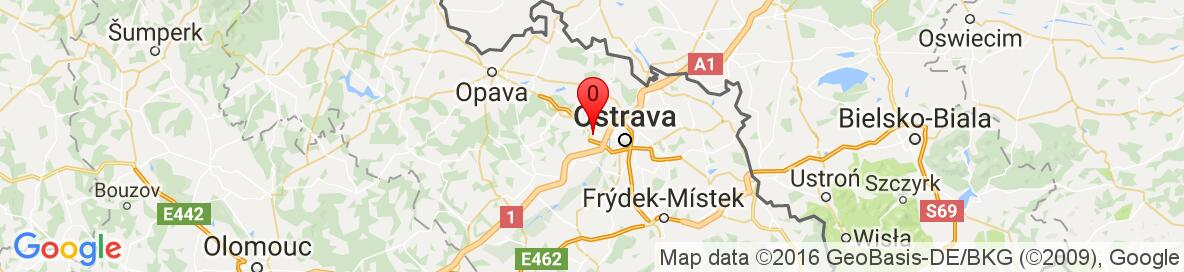 Map of Poruba, Ostrava-Poruba, Czech Republic. More detailed map is available only for registered users. Please register or log in.