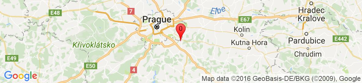 Map of Říčany, Prague-East District, Central Bohemian Region, Czech Republic. More detailed map is available only for registered users. Please register or log in.
