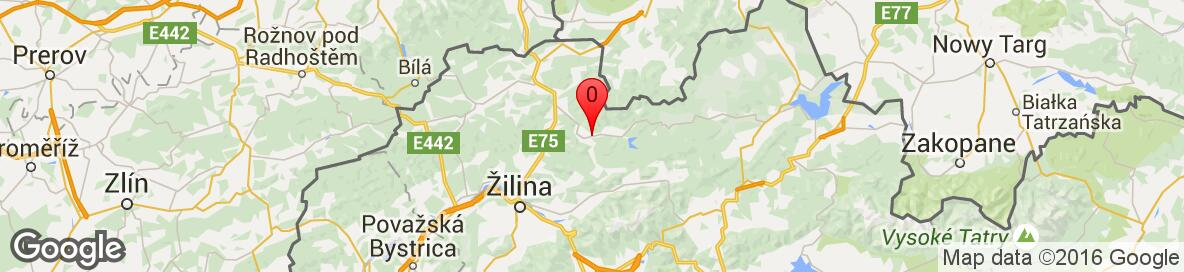 Map of Stará Bystrica, Čadca District, Žilina Region, Slovakia. More detailed map is available only for registered users. Please register or log in.