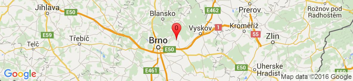 Map of Hostěnice, Brno-Country District, South Moravian Region, Czech Republic. More detailed map is available only for registered users. Please, register or log in.