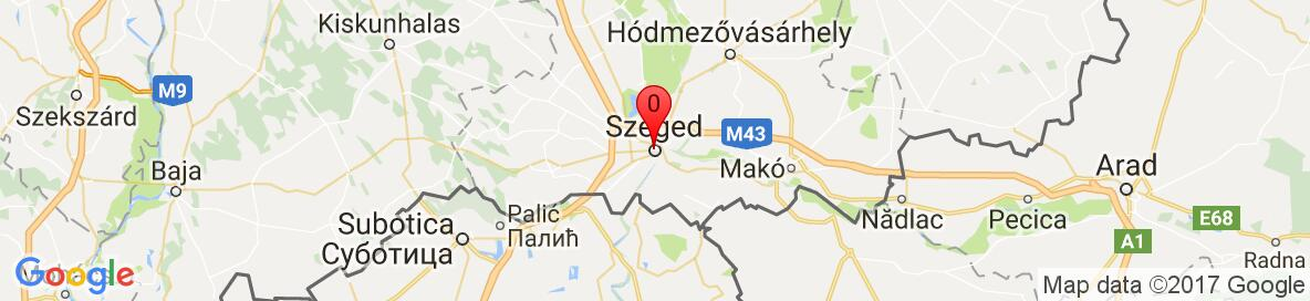 Map of Szeged, Hungary. More detailed map is available only for registered users. Please register or log in.