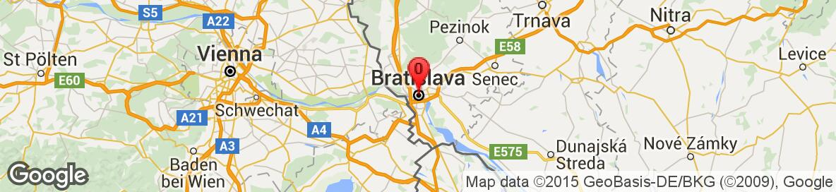 Map of Bratislava,Slovakia. More detailed map is available only for registered users. Please register or log in.
