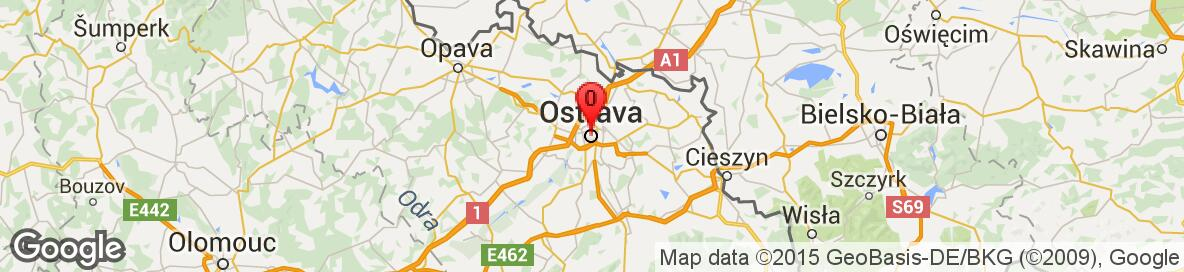 Map of Ostrava, Ostrava-City District, Moravian-Silesian Region, Czech Republic. More detailed map is available only for registered users. Please register or log in.