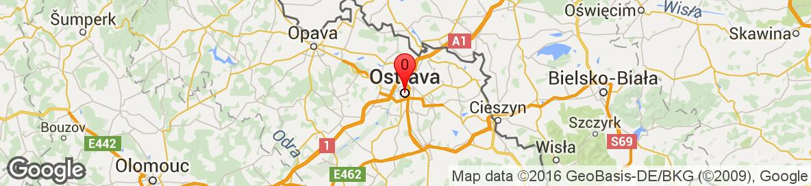Map of Ostrava, Ostrava-město, Moravskoslezský kraj, Česká republika. More detailed map is available only for registered users. Please register or log in.