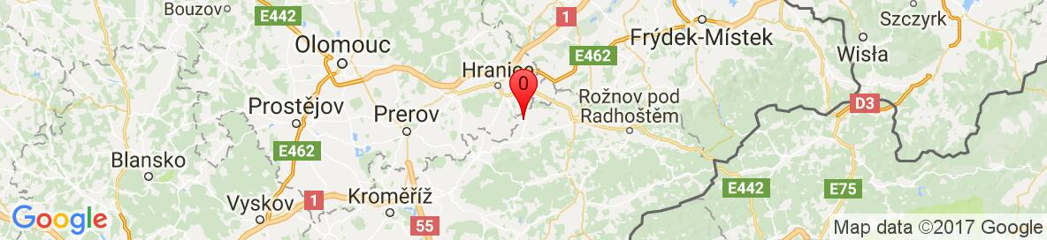 Map of Kelč, Vsetín District, Zlin Region, Czechia. More detailed map is available only for registered users. Please register or log in.