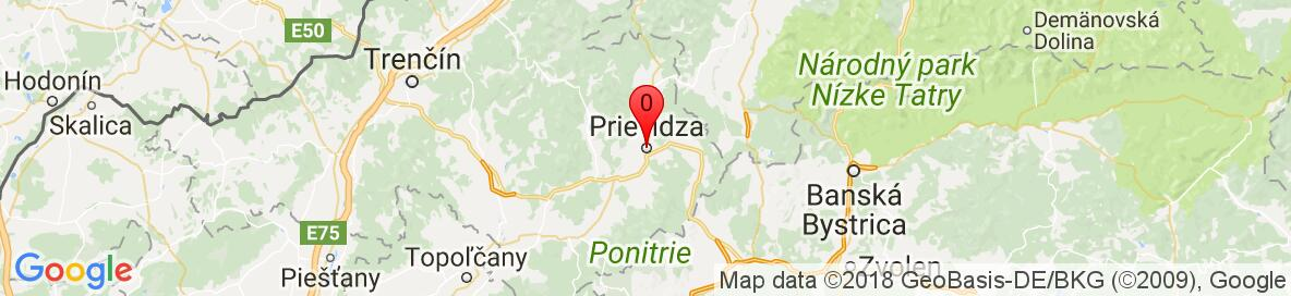 Map of Prievidza Slovensko. More detailed map is available only for registered users. Please register or log in.