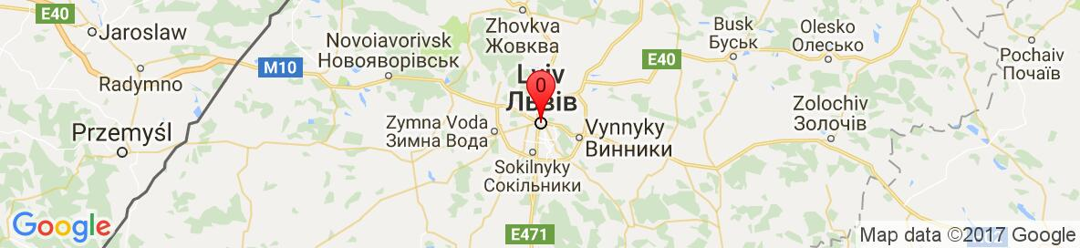 Map of Lviv, Lviv Oblast, Ukraine. More detailed map is available only for registered users. Please register or log in.