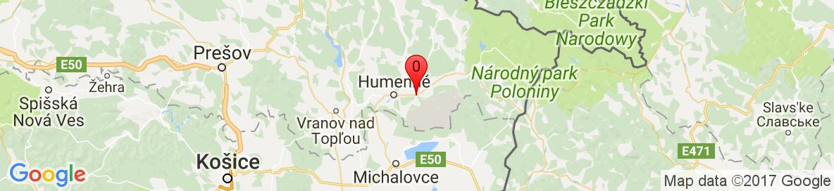 Map of Kamenica nad Cirochou, Slovakia. More detailed map is available only for registered users. Please register or log in.