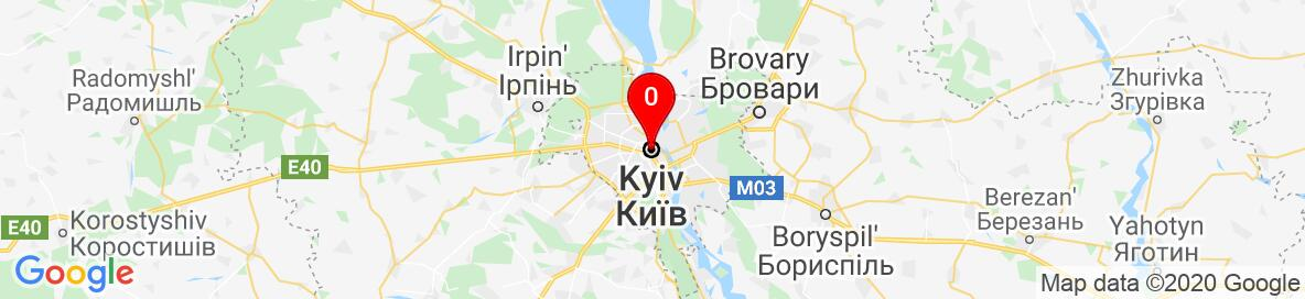 Map of Kyiv, Kyiv City, Ukraine. More detailed map is available only for registered users. Please register or log in.